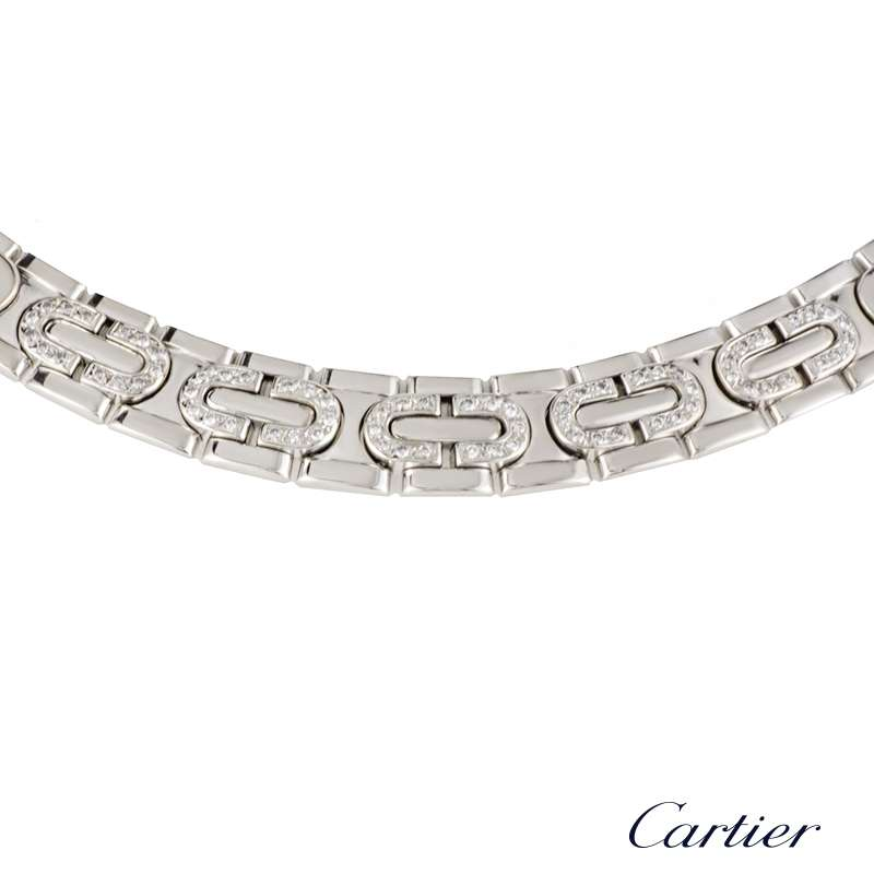 Cartier Maillon Diamond Set Necklace